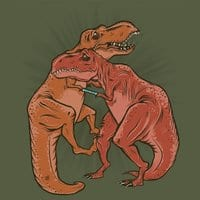Two Dinosaurs Caught in a Chinese Finger Trap - small view