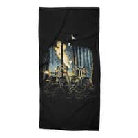 HOT CHICKS ON WOLVES - beach-towel - small view