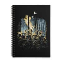 HOT CHICKS ON WOLVES - spiral-notebook - small view