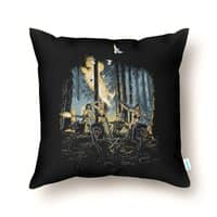 HOT CHICKS ON WOLVES - throw-pillow - small view