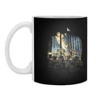 HOT CHICKS ON WOLVES - white-mug - small view