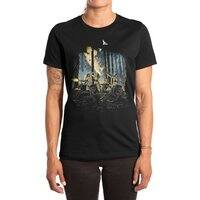 HOT CHICKS ON WOLVES - womens-extra-soft-tee - small view