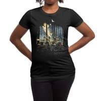 HOT CHICKS ON WOLVES - womens-regular-tee - small view