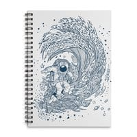 I Only Surf on Comets - spiral-notebook - small view