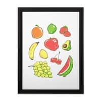 Booty Fruit - black-vertical-framed-print - small view