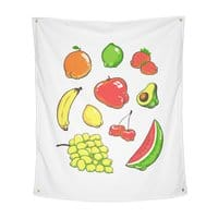 Booty Fruit - indoor-wall-tapestry-vertical - small view