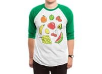 Booty Fruit - triblend-34-sleeve-raglan-tee - small view