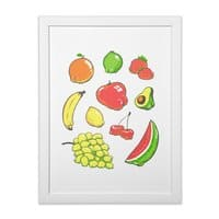 Booty Fruit - white-vertical-framed-print - small view