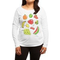 Booty Fruit - womens-long-sleeve-terry-scoop - small view