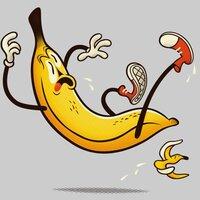A Banana Slipping on a Banana Peel - small view