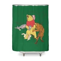 A Very Naughty Bear - shower-curtain - small view
