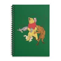 A Very Naughty Bear - spiral-notebook - small view