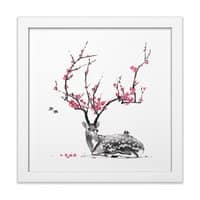 Blooming - white-square-framed-print - small view
