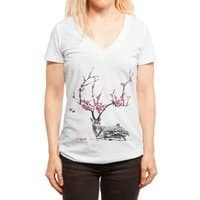 Blooming - womens-deep-v-neck - small view