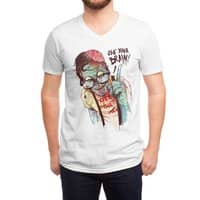 Use Your Brain - vneck - small view