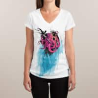 Art Is My Weapon - womens-sublimated-v-neck - small view