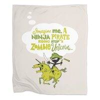 Imagine me, a Ninja Pirate, riding atop a zombie unicorn... - small view