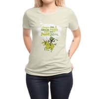 Imagine me, a Ninja Pirate, riding atop a zombie unicorn... - womens-regular-tee - small view