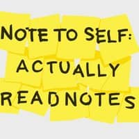 Note to self: actually read notes - small view