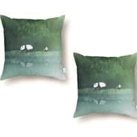 Secret Lake - throw-pillow - small view
