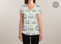 It's Toile About You - womens-sublimated-v-neck - small view