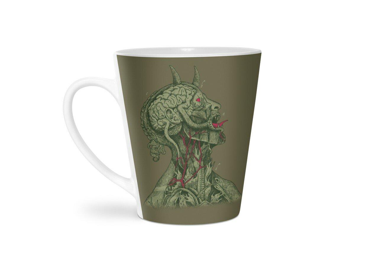 Anatomy of Evil by Alvaro Arteaga   Latte Mug Threadless