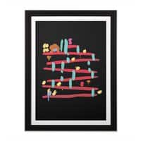 Arcade Expressionism - black-vertical-framed-print - small view