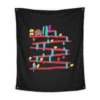 Arcade Expressionism - indoor-wall-tapestry-vertical - small view