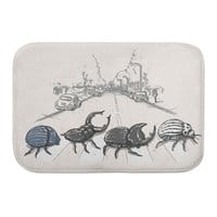 The Beetles - bath-mat - small view