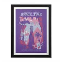 Space and Time - black-vertical-framed-print - small view