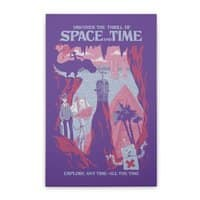 Space and Time - vertical-stretched-canvas - small view