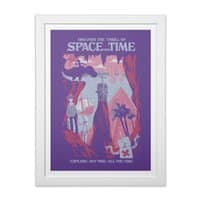 Space and Time - white-vertical-framed-print - small view