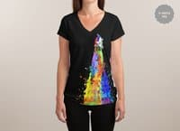 Space Needs Color - womens-sublimated-v-neck - small view