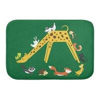 Giraffe Slide - bath-mat - small view