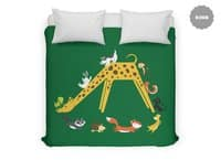 Giraffe Slide - duvet-cover - small view