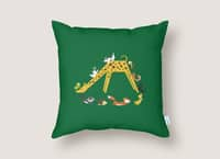 Giraffe Slide - throw-pillow - small view
