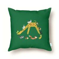 Giraffe Slide - throw-pillow - small view