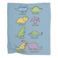 Know Your Dinosaurs - blanket - small view