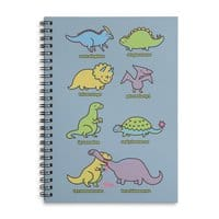Know Your Dinosaurs - spiral-notebook - small view