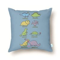 Know Your Dinosaurs - throw-pillow - small view