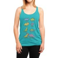 Know Your Dinosaurs - womens-triblend-racerback-tank - small view