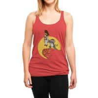 The King - womens-triblend-racerback-tank - small view