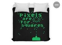 Pixels Are For Squares - duvet-cover - small view