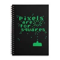 Pixels Are For Squares - spiral-notebook - small view