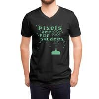 Pixels Are For Squares - vneck - small view