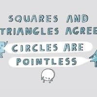 Squares and Triangles Agree: Circles are Pointless - small view
