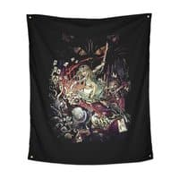Zombies in Wonderland - indoor-wall-tapestry-vertical - small view