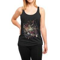 Zombies in Wonderland - womens-triblend-racerback-tank - small view