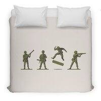 Khaki Kickflip - duvet-cover - small view