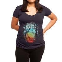 Lost in My Dreams - womens-deep-v-neck - small view